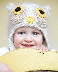Owl Earflap Hat Pattern from Adrienne Engar on Etsy