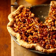 Honey-Walnut Pie - A made-by-you cinnamon pastry pairs nicely with the crunchy-tart walnuts in this gorgeous holiday pie.