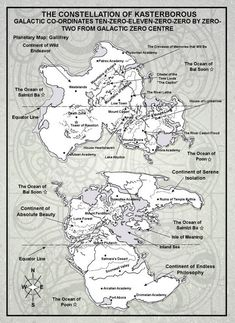 Incredible map of Gallifrey! #DoctorWho