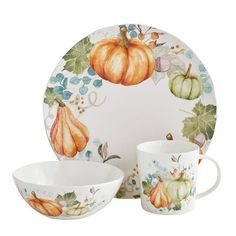 Shop for dinnerware, dinner sets and other place settings at Pier Put the finishing touch on your dining room with our dishes, bowls, dinner plates and more. Dinner Plate Sets, Dinner Sets, Dinner Plates, Thanksgiving Dinnerware, Pumpkin Dishes, Pumpkin Spice, Papasan Chair, Love Holidays, Fall Table