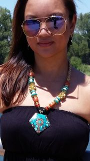 Indian Gypsy Long Statement Necklace