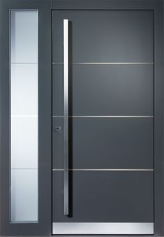 Modern entrance doors from Pieno - now at Schmidinger Oberösterreich - Pieno entrance door model Mönchenglattbach with side panel. The exclusive Pieno entrance doors are - Door Design Interior, Modern Entrance Door, House Doors, Doors Interior, Doors Interior Modern, Modern Entrance, Sliding Doors, Front Door Design, Barn Doors Sliding