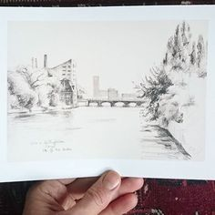 #Berlin Berlin.. you are so deep in my heart.. This little print has moved to Los Angeles. It is a print from a seven years old #pencil drawing that I did sitting in the Schilling Brücke looking to the East..I guess the river shore has changed already a lot.. #citysketch #print #graphite #monochrome #bnw #Berlin #berlinmitte #Spree #eastberlin #Ostberlin #urbansketch #pencilsketch #etsyart @etsyde #instaart #artistofinstagram #catilustre
