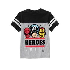 Toddler Boys Heather Grey Marvel Unite Tee by Gymboree