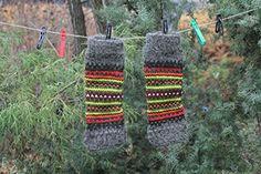 Knitted Leg Warmers With Ornament - I Crochet World Knit Leg Warmers, Crochet World, American Girl, Knitted Hats, Knitting Patterns, Seasons, Ornaments, Dogs, Fleece Leggings
