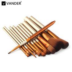 Vander Professionele 12 Stks/partij Make Up Kwasten Set Foundation Gezicht & Eye Poeder Blusher Cosmetica Make Borstel Pincel Maquiagem