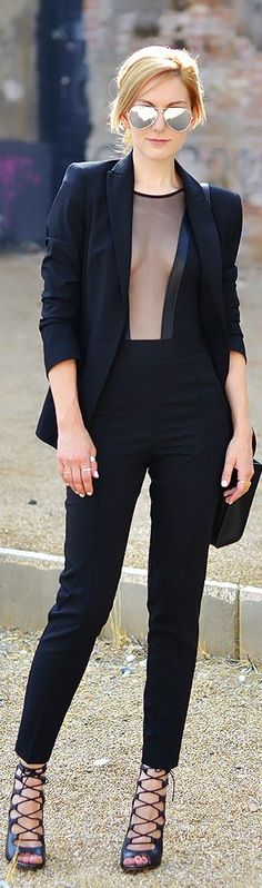 Sexy sheer & suited up for autumn! ::M::