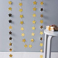 Metallic Star Paper Paper Garland - christmas parties & entertaining