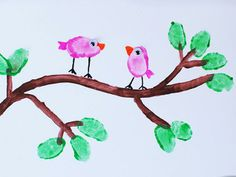 We cannot get over how cute these little birdies are. Make them with your kids using their fingers! http://www.ivillage.com/kids-spring-activities/6-b-435808#531857