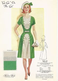 "Fashion frocks ""GO-GO On The Go!"" Sales Sample Card"