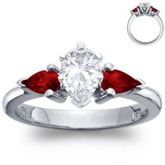 Cute Engagement Ring #ring would want a diff color than red