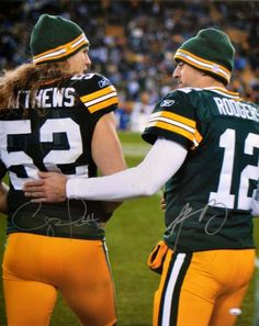 Aaron Rodgers & Clay Matthews Autographed 16x20 Photo #SportsMemorabilia #GreenBayPackers