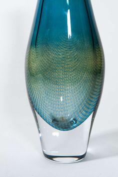 Sven Palmqvist, Orrefors Kraka Art Glass Vase image 4