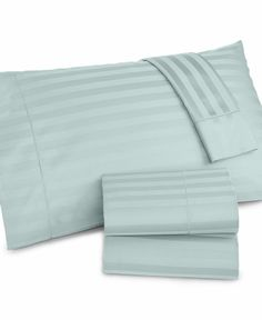 Charter Club Damask Stripe 500 Thread Count Full Sheet Set - Sheets - Bed & Bath - Macy's
