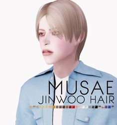 """effiethejay: """" Jinwoo Hair for *new mesh* Mesh by me Texture by This hair requested by 26 Swatches / Hat Compatible (but it sucks… sorry T.T) Inspired by Jinwoo of WINNER in. My Sims, Sims Cc, Sims 4 Hair Male, Male Hair, Sims Packs, Winner Jinwoo, Sims Four, The Sims 4 Download, Sims 4 Clothing"""