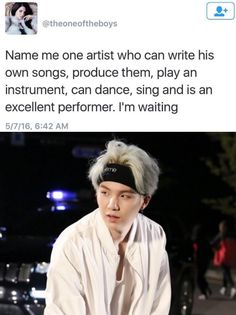 "mimibtsghost: ""MIN SUGA GENIUS CAN DO IT ALL. """