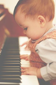 Combining two things I love - the piano and cute baby.