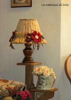 LE CREAZIONI DI CRIS ... di tutto ... un pò: Rivestire il paralume di una LAMPADA - ultima part...