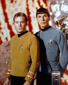 "William Shatner ""Kirk"" And Leonard Nimoy ""Spock"" # Star Trek Original Series"