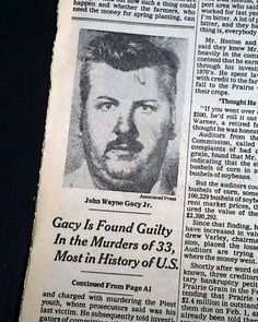 John Wayne gacy | JOHN WAYNE GACY Serial Killer & Rapist Pogo the Clown GUILTY 1980 NYC ...
