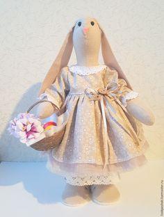 Шьем пасхальную зайку в стиле тильда. Часть 3: платье – Ярмарка Мастеров