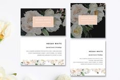 Florist Business Card Templates by Marham Labeling Co on @creativemarket