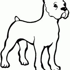1000 images about coloriage animaux on pinterest animaux best positions and how to get pregnant - Dessin chien boxer ...