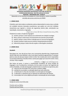 Programa Maranhão Profissional 2014: ETAPA PRÉ-VESTIBULAR - PLANO B - REDAÇÃO - ATIVIDA...