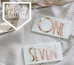 Gold Gatsby Marble Table Numbers