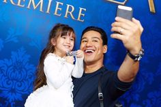 Mario Lopez Hangs Out With His Little Princess Gia In The HSN Cinderella Collection lounge   Radar Online