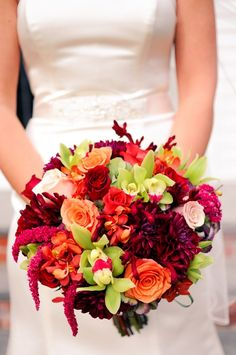 Beautiful fall floral bouquet