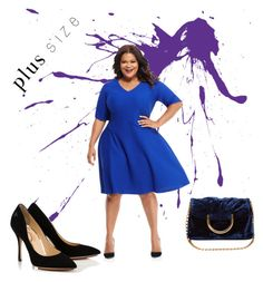 """plus size 1"" by mariapizzuto on Polyvore featuring moda, Maggy London, STELLA McCARTNEY e plus size dresses"