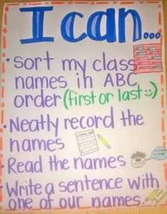 I can statements for the pocket chart center (literacy work stations)
