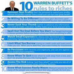Warren Buffet's 10 Rules to Riches...  #WarrenBuffettsSecrets #RulesToRiches #MakeMoney