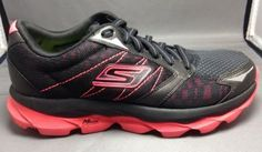 Skechers Go Run Ultra Running Shoes 6.5 Womens M-Strike Sneakers Black Pink New