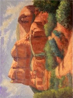 Courthouse Butte Sedona 12x16 oil painting