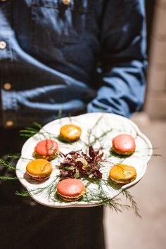 one of the hors d'oeuvres we served at a recent pop-up dinner: beet macarons made with Produce With Purpose beets, Caprine goat cheese & pistachio. Sour Plum, Lunch Delivery, Greens Restaurant, Pop Up Dinner, Green Farm, Daily Specials, Hors D'oeuvres, Breakfast Burritos, Menu Items