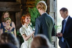 Howard County Conservancy Wedding #Springwedding #Weddingstyle #MaryBrunstPhotography #Vintageweddingdress #vintagestyle #wildflowerbouquet #barnwedding #wedding