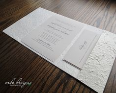 Crinkle paper pockets   DIY EcoFriendly Handmade Natural Mulberry by MulberrybyMDCDesigns, $28.50