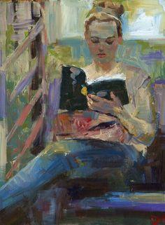 Paperback Novel, Oil painting by Darren Thompson | Artfinder