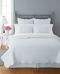 Martha Stewart Collection Bedding, Damask Trace Quilts - Bedding Collections - Bed & Bath - Macy's