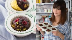 Hoje é dia de muffin com muito chocolate preparado pela Dani.
