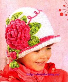 Pattern in Russian. Includes charts. Great idea to embellish a simple hat.