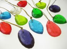 Party favor: Gem candy necklaces with edible glitter!