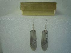 Oneida Queen Bess II 1946 Earrings Silverplate  #Oneida #DropDangle