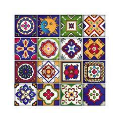 Adhesivos de azulejos mexicanos Set de 16 por RoyalWallSkins