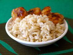 coconut rice...Louise LOVES rice...I'll have to make this for lunch someday