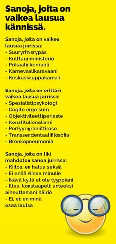 sanoja_joita_vaikea_lausua_kannissa_2 Finnish Language, Pokemon, Finland, I Laughed, Qoutes, Funny Pictures, Lol, Feelings, Sayings