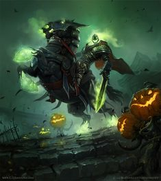 Headless Horseman | LD Austing  (works at Blizzard for the World of Warcraft Card Game)