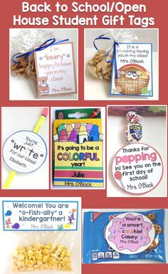 Back to School, Open House, Meet the Teacher Student Gift Tags Set of 15